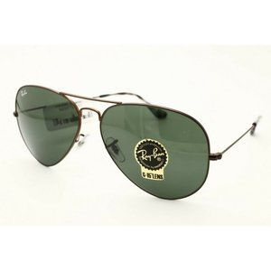 Ray Ban Sunglasses RB 3025 Brown Green lenses 62mm